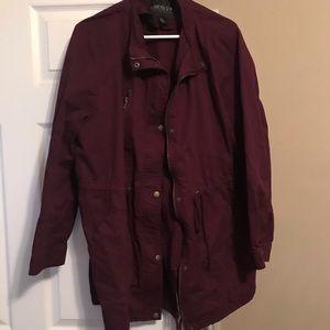 Forever 21 | Plus size Burgundy Utility Jacket